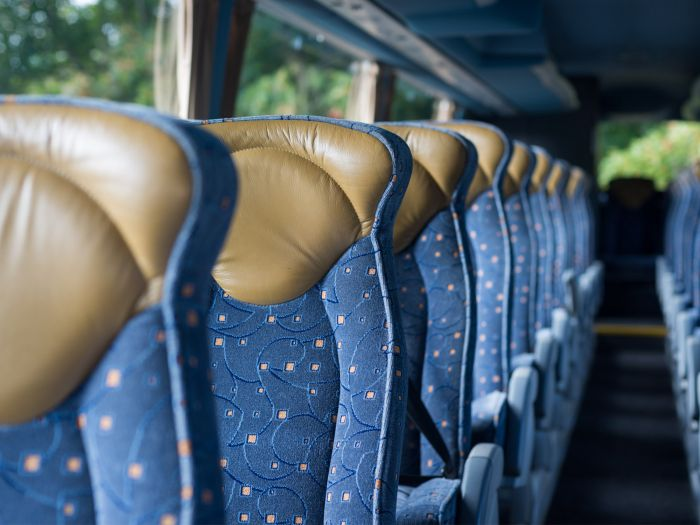 Photo of seats on-board a Tourist bus coach