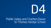 Piddle Valley and Charlton Down to Thomas Hardye School