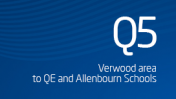 Verwood area to QE and Allenbourn Schools