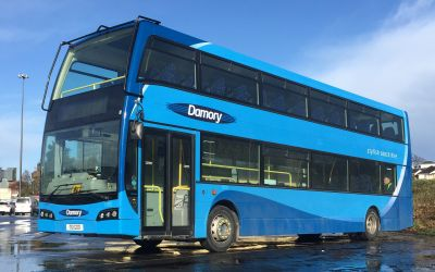Photo of a Damory 86 seater private hire double decker bus